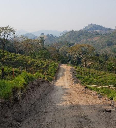 Tramo de 5 kilómetros rehabilitados  Las Milagros-Los Blandón en San José de Bocay