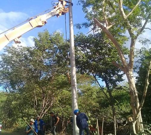 Electrificación en37 viviendas enla Comunidad Goteras,Quilalí.