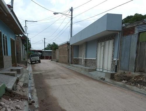 Tres calles se mejoraron en el barrio  La Comuna de Estelí