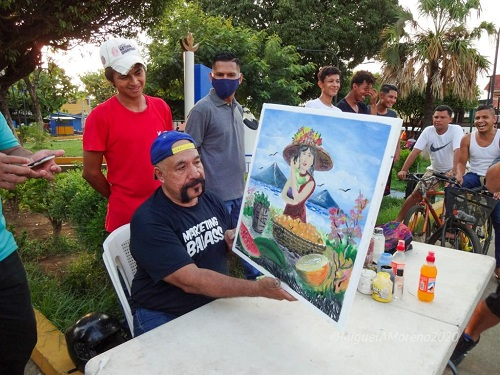 Concurso de pintura a la madre de Chichiglpa