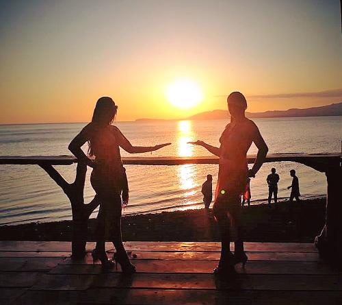 Puesta de sol en las playas de Mérida