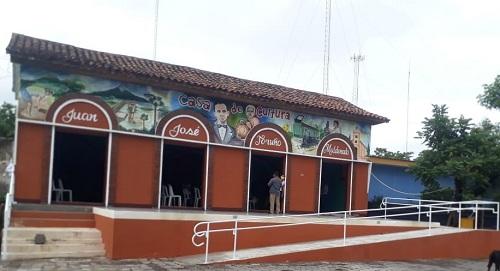 """La Paz Centro: Mejoramiento de Casa de Cultura """"Juan José Toruño Maldonado"""" en el Barrio Nicolás Bolaños."""