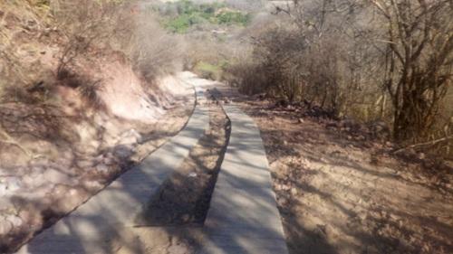 Construcción de andenes y cunetas en la comunidad San Nicolás en Matagalpa