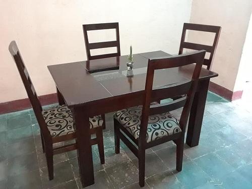 Muebles elaborados en la finca La Providencia
