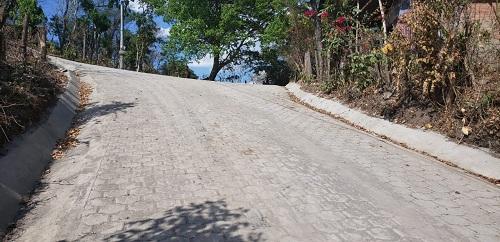 Calle adoquinada en la comunidad San Marcos en Matagalpa