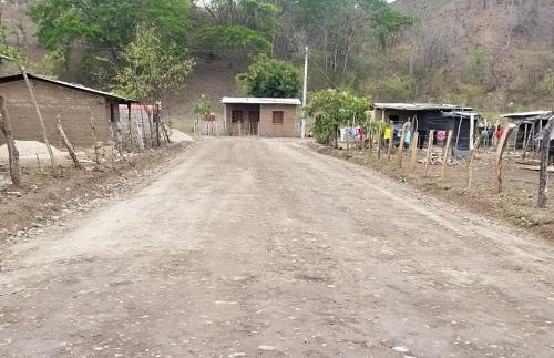 Tres calles mejoró el gobierno local en la comunidad Panalí, en la jurisdicción de Quilalí.