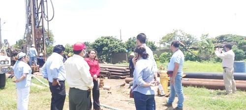 En el proyecto de agua potable en la comunidad La Chona