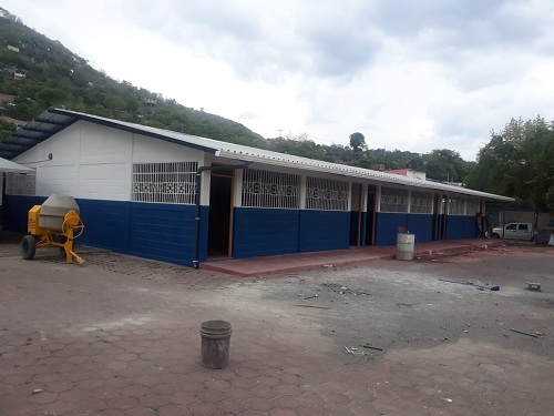 Escuela Bern Koberstein  recién construida en el barrio Rodolfo López de Matagalpa