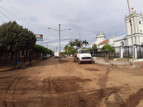 obras de nueva calzada en Rivas
