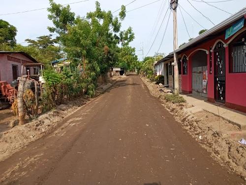El gobierno local de Tipitapa mejoró47 calles en las comunidades San Luis, Zambrano, Los Trejos y Brisas de San Luis.