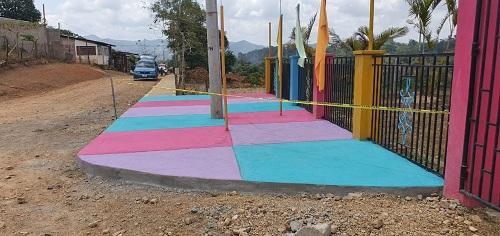 Construcción de 160 metros lineales de andenes enRancho Grande.