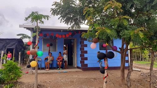 Instaladas ya en sus viviendas en Somoto