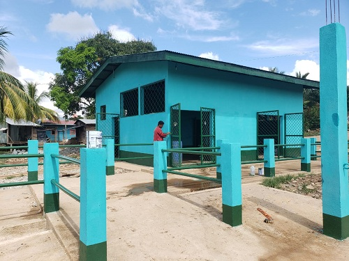 Mejoramiento de rastro en barrio Los Cocos,Bonanza.