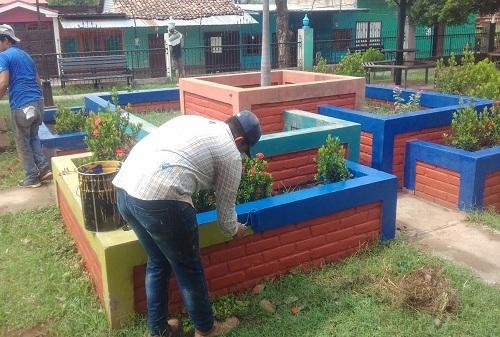 Parque de Achuapa mejorado.
