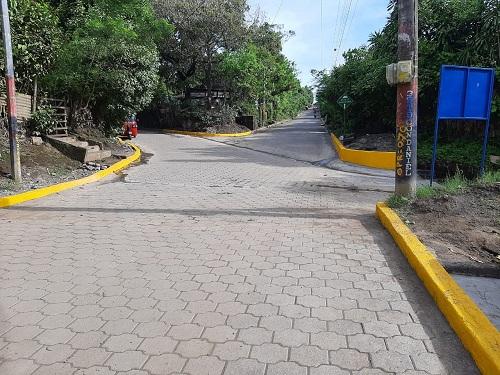 Cinco calles se mejoraron en Masatepe en  el barrio Jalata y Comunidad Los Velásquez.
