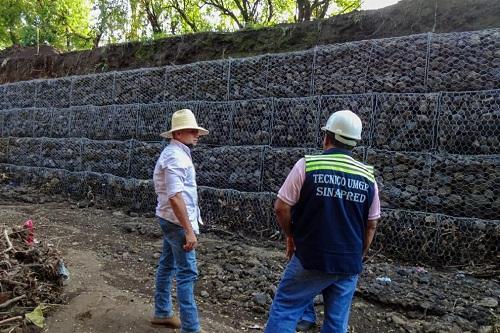 Obra de mitigación en la comunidad Pellizco Central en Chichigalpa