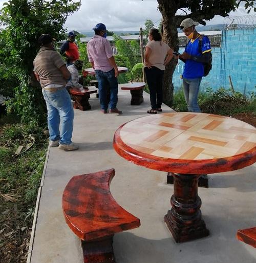 En el parque Mirador en Villa Sandino
