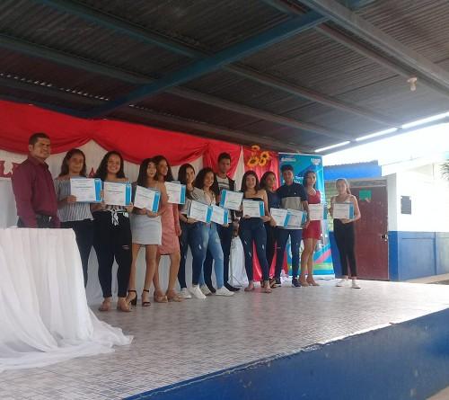 Santa Rosa del Peñón: Primera promoción del cursode inglés