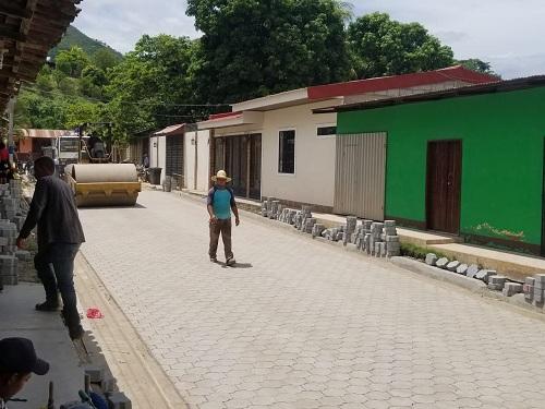 Calle adoquinada en Quilalí