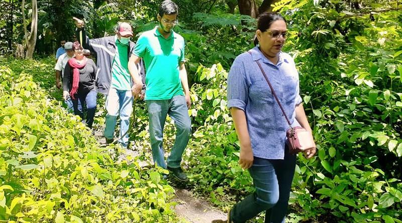 Visita de presidenta del Inifom a Tisma, sitio Ramsar  con su laguna salpicada de  garzas