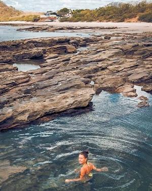 Una de las  piscinas  naturales que ofrece playa Guanacaste