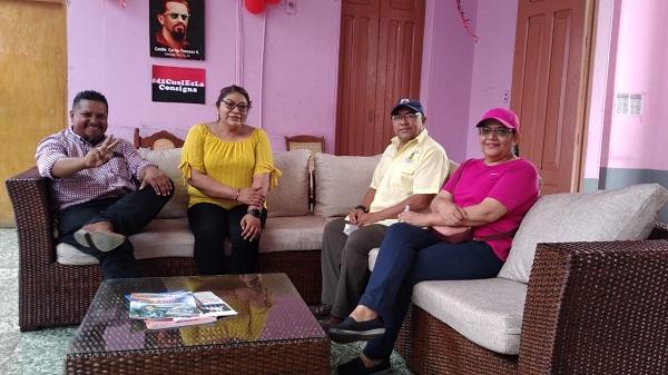 La presidenta de Inifom en la alcaldía con la alcaldesa Guioconda Aguirre