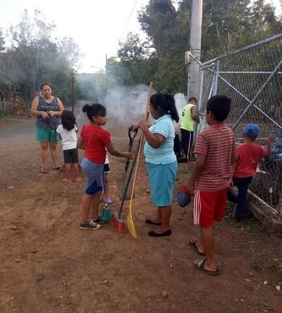 Limpieza comunal en Morrito