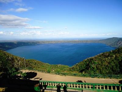 Laguna de Apoyo, vista desde El Mirador de Catarina