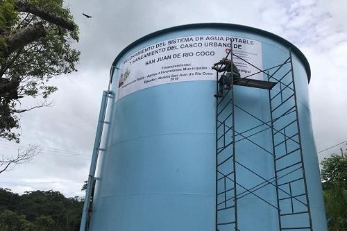 Sistema de agua potable mejorado en San Juan del Río Coco
