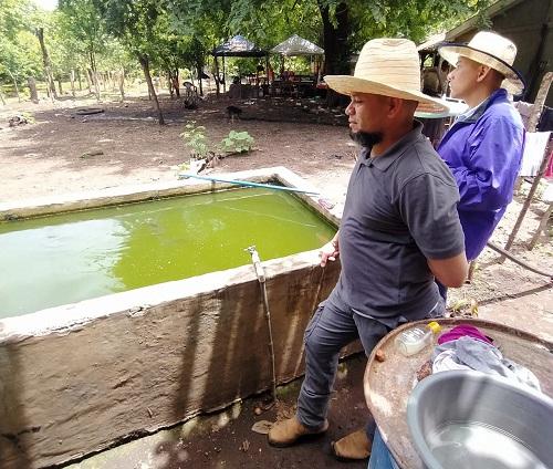 Chichigalpa: Visita a estanque de cultivo de tilapias en la comunidad El Pellizco en su segunda cosecha, la primera fue vendida en su totalidad con peces de hasta 11/2 libra
