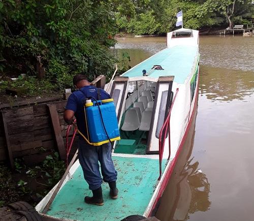 Tratamiento a transporte acuático en El Castillo