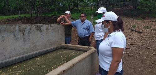 Villanueva: Visita al proyecto de producción de tilapia en la Cooperativa Hermanos Lagos e comunidad Israel