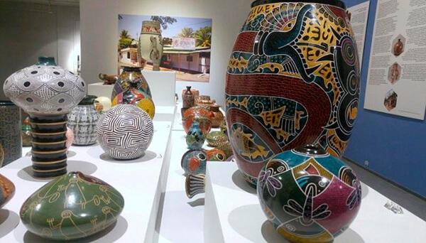 Cerámica de San Juan de Oriente expuesta en el principal museo de artesanía en Finlandia en mayo del año pasado
