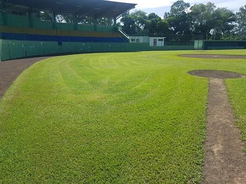 Grama y demás áreas del estadio en perfectas condiciones