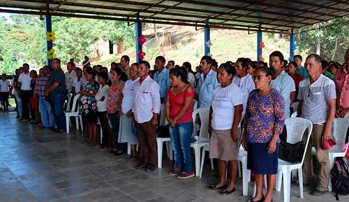 Integrantes de red comunitaria de salud en Siuna