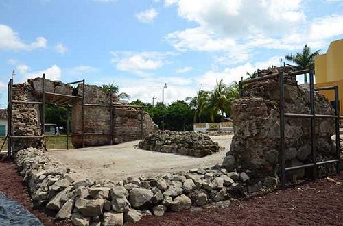 Restos de lo que fue la parroquia franciscana de Potosí