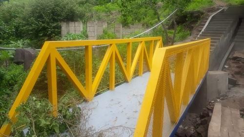 Puente del barrio Francisco Moreno en Matagalpa mejorado