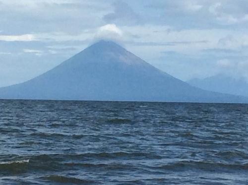 Vista del volcán Concepción desde La Reserva