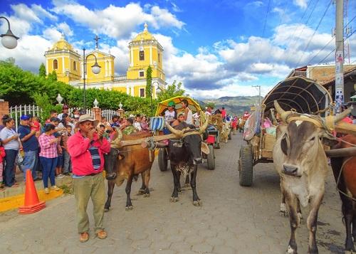 Peregrinos de Villa Nueva, santa Pancha y Somotillo en enero pasado (foto archivo M.V)