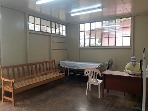 Uno de los ambientes del centro de salud de Kukra-Hill