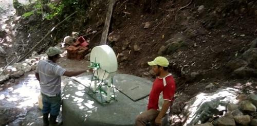 Sistema de agua potable restaurado en San Juan de limay