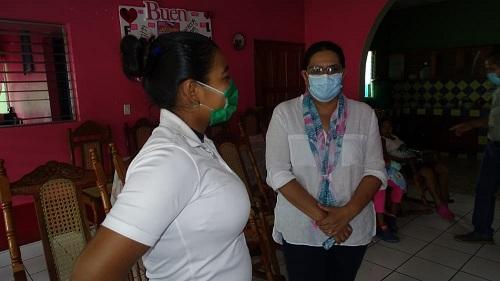 En el interior de la casa materna  cuya capacidad es de 58 embarazadas