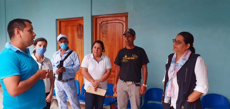 En el interior de la casa para personas con necesidades especiales de salud