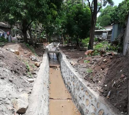 Obra de drenaje en Juigalpa