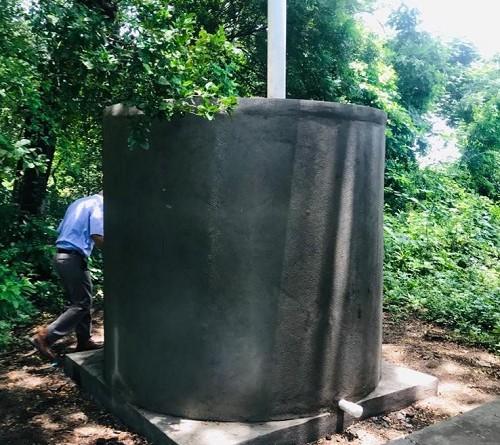 Sistema  de almacenamiento de agua en Hato Grande El Viejo