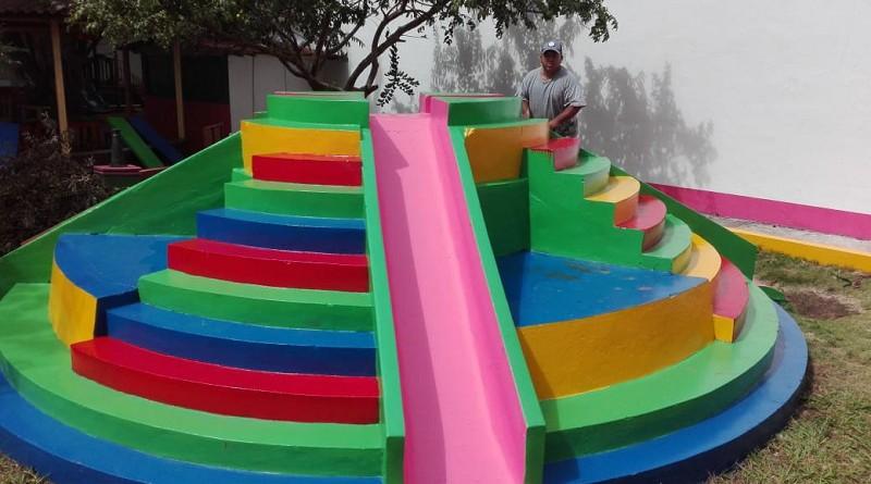 Otro ambiente del parque municipal mejorado en Jinotepe