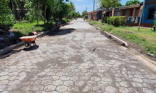 Cuatro calles adoquinadas están en León en el reparto Bella Vista y Rubén Darío