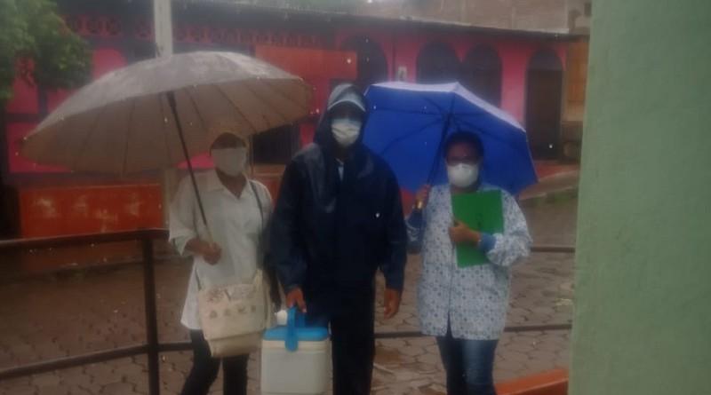Con lluvia y sin ella la jornada antiepidémica avanza