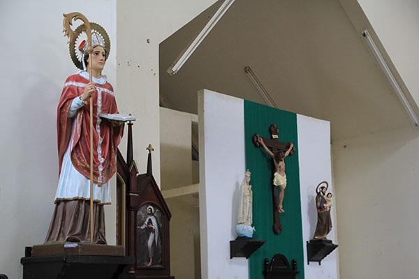 Imagen de San Dionisio de Atenas en la iglesia del mismo nombre