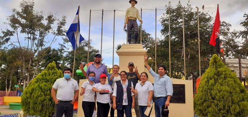 Parque municipal con l estatua del Héroe Nacional Benjamín Zeledón